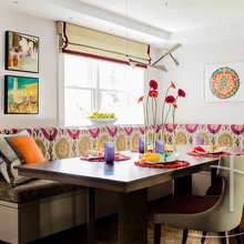 Color Packs a Punch in a New Eat-In Kitchen