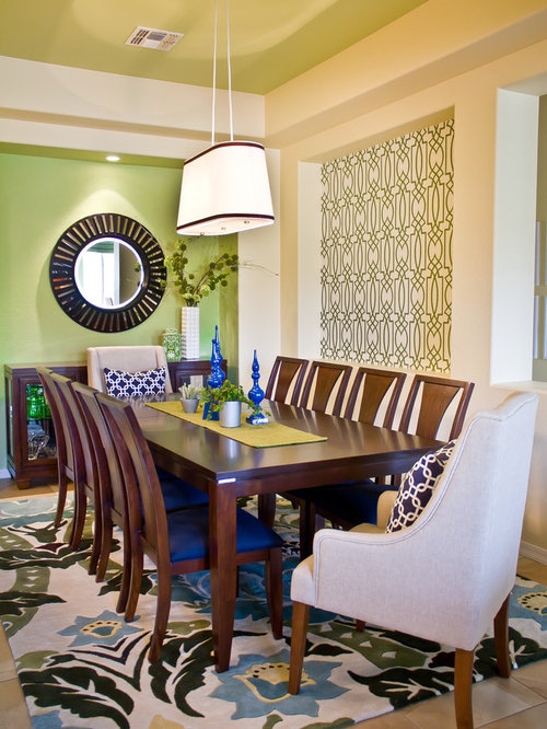 Light green walls home design ideas pictures remodel and for Light green dining room