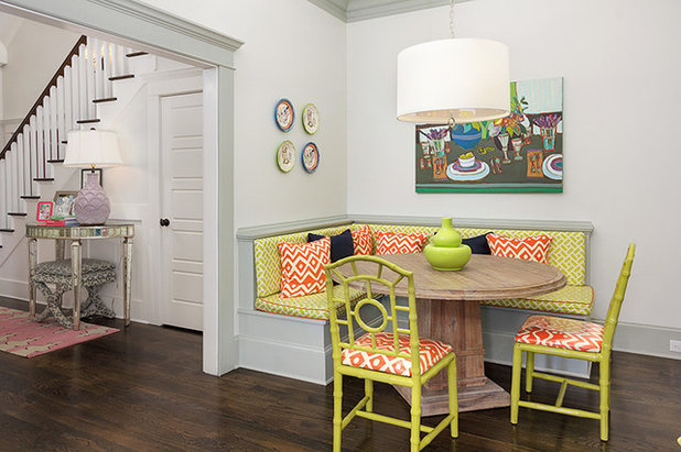 Transitional Dining Room by Colordrunk Designs