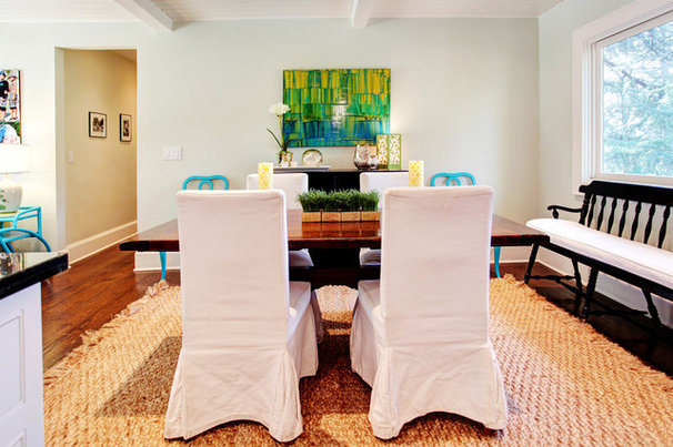 Transitional Dining Room by Stephanie Wiley Photography