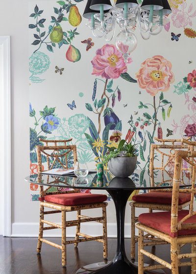 Transitional Dining Room by Courtney B. Smith Design