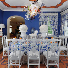 Eclectic Dining Room by Kenneth/Davis, Inc.