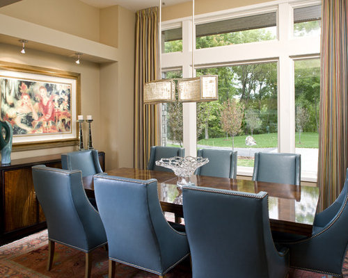 Ivory Leather Dining Chairs Design Ideas & Remodel Pictures | Houzz