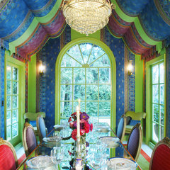 eclectic dining room by Timothy Corrigan, Inc.