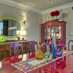 eclectic dining room by Kat Freeman Designs