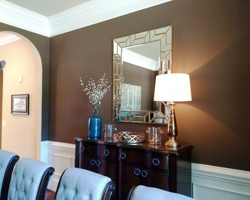 Teal Turquoise And Brown Dining Room