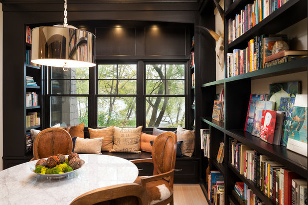 Transitional Dining Room by Kyle Hunt & Partners, Incorporated
