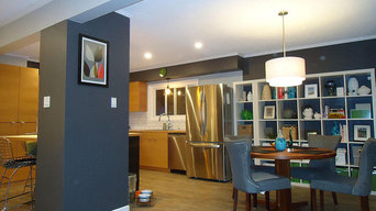 Comox Contemporary Redesign of 2 Kitchens and 2 Bathrooms. Upstairs/Downstairs