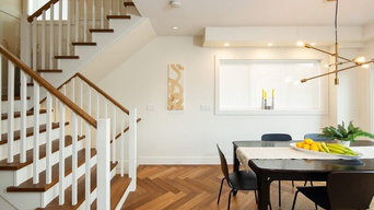 Complete Renovation - Herringbone Flooring, Railing and Bannister/Vinyl LVT