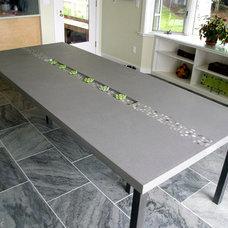 Contemporary Dining Tables by Trueform Concrete