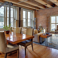 Industrial Dining Room by Seattle Staged to Sell and Design LLC