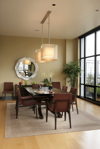 modern dining room by Olson & Jones