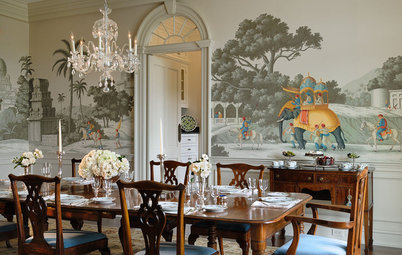 Lovely Traditional Style Textures Bring Good Taste to Traditional Dining Rooms