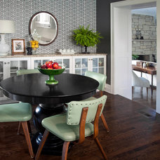 Transitional Dining Room by CCG Interiors, LLC.