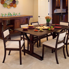 Eclectic Dining Room by Conrad Grebel Furniture