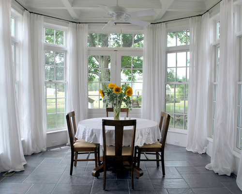 Perfect Traditional Dining Room Idea In Other With White Walls