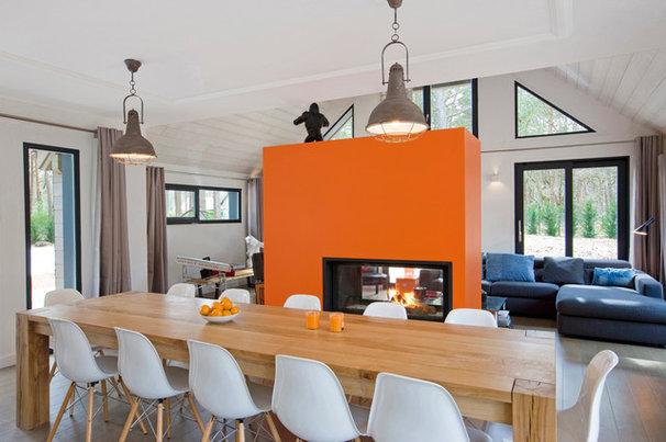 13 astuces pour d limiter diff rents espaces dans une pi ce ouverte - Amenager une grande salle a manger ...