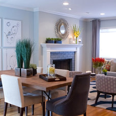 Contemporary Dining Room by A.S.D. Interiors - Shirry Dolgin, Owner