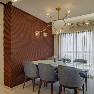 Cette image montre une salle à manger design.
