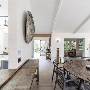 Inspiration for a large coastal great room remodel in Santa Barbara