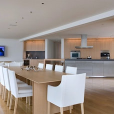 Contemporary Dining Room by Finton Construction