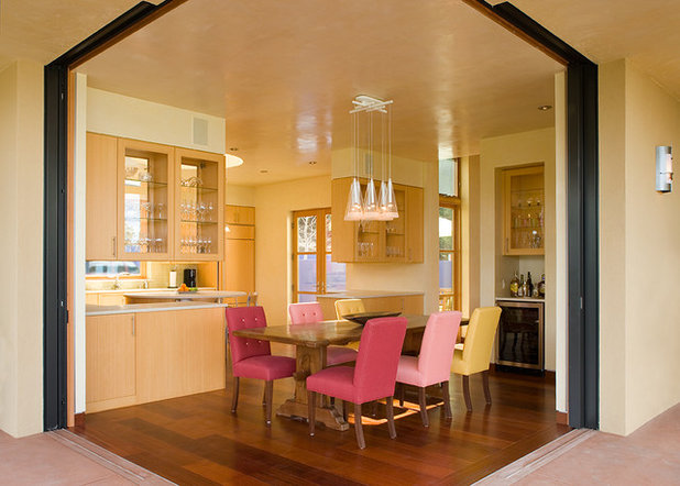 Contemporary Dining Room by Prull Custom Builders