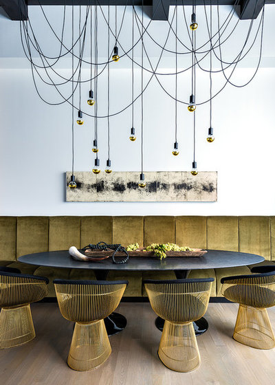 Contemporary Dining Room by Chris Bradley Photography