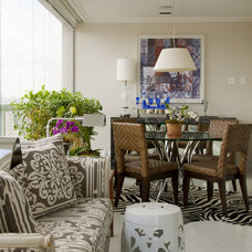Eclectic Dining Room by Allan Malouf Studio