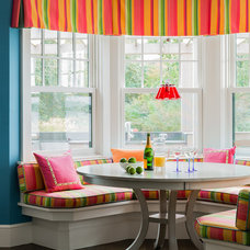 Transitional Dining Room by Elizabeth Swartz Interiors