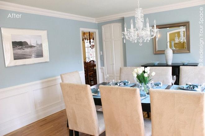 Light Blue Walls Dining Room
