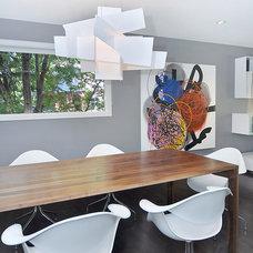 Contemporary Dining Room by Bruce Johnson & Associates Interior Design