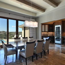 Contemporary Dining Room by Design Visions of Austin
