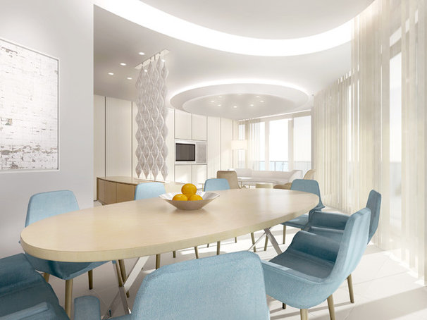 Contemporary Dining Room by David Howell Design