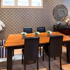 "eclectic dining room by Decorating Den Interiors - ""Decorate with Kate"""