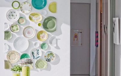 An die Wand statt in den Schrank: Die besten Deko-Ideen mit Tellern