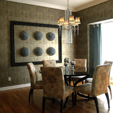 Contemporary Dining Room by Gina McMurtrey Interiors