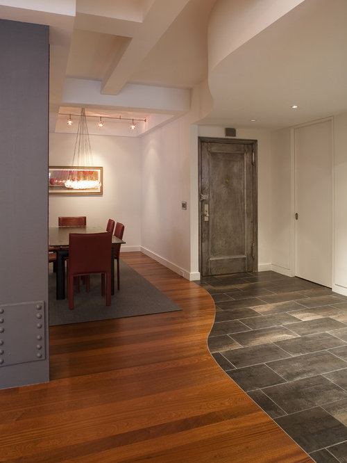 Floor transition houzz for Flooring ideas for kitchen and dining room