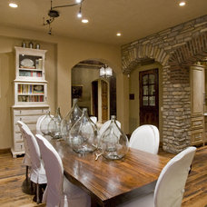 Mediterranean Dining Room Contemporary Dining Room