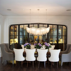 Contemporary Dining Room by Hinsdale Lighting