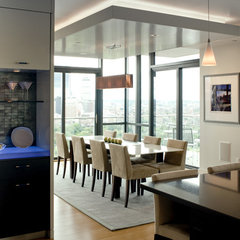 contemporary dining room by the orpin group, interior design