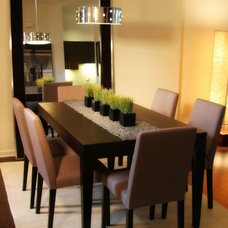 Contemporary Dining Room by Flüff Designs & Decor
