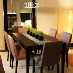 contemporary dining room by Fluff Designs & Decor