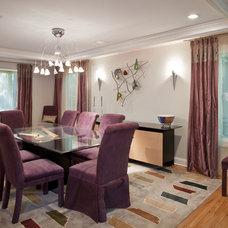 Contemporary Dining Room by Debra Lipset Designs