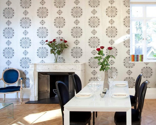 Houzz Wallpaper Dining Room