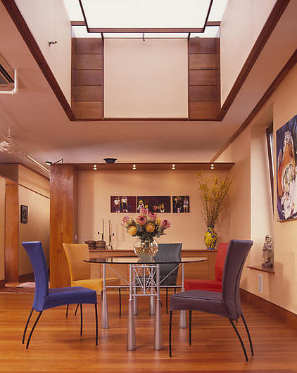 contemporary dining room by James Wagman Architect, LLC
