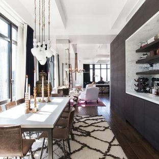 Immagine di una grande sala da pranzo design con nessun camino