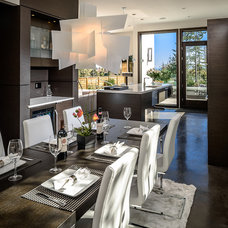 Contemporary Dining Room by Joshua Lawrence Studios INC