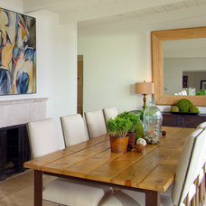 Beach Style Dining Room Contemporary Dining Room