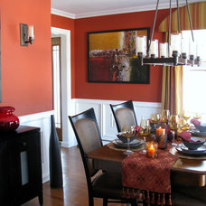 Contemporary Dining Room by Shoshana Gosselin