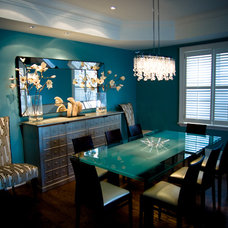 Contemporary Dining Room by Lucid Interior Design Inc.